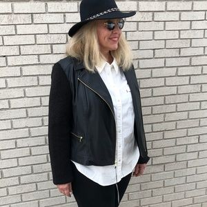 NWT Cole Haan Moto Jacket in Women's XL